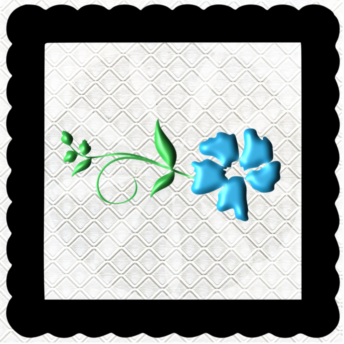 3D Flower 1A-Jewelry Tag-Clipart-Gift Tag-Holiday-Digital
