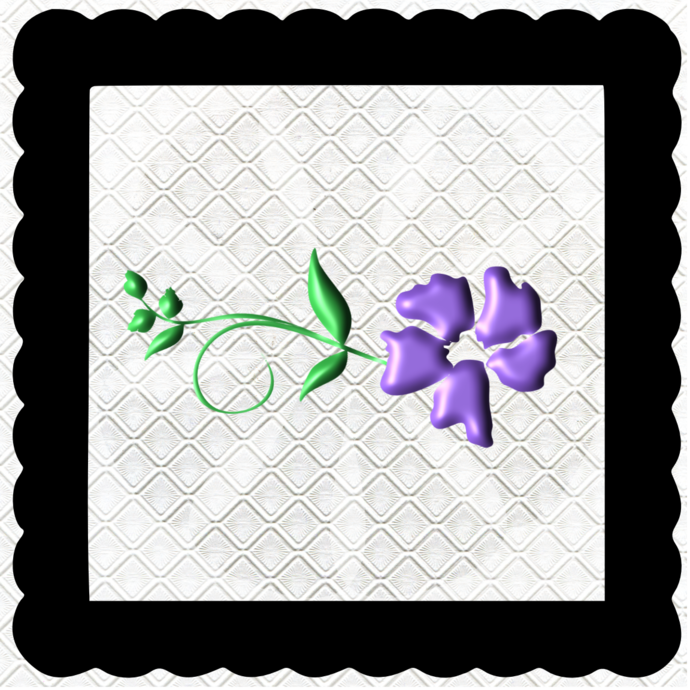 3D Flower 4A-Jewelry Tag-Clipart-Gift Tag-Holiday-Digital