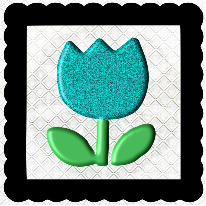 3D Flower 7A-Jewelry Tag-Clipart-Gift Tag-Holiday-Digital
