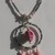 Shades of Pink Skull Necklace / Halloween Fun Jewelry