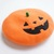 Needle Felted French Beret Hat:  Halloween Pumpkin Jack-o'-lantern