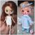 Sarsarblanki Custom Petite Blythe Doll Little Blau - OOAK handmade custom ブライス