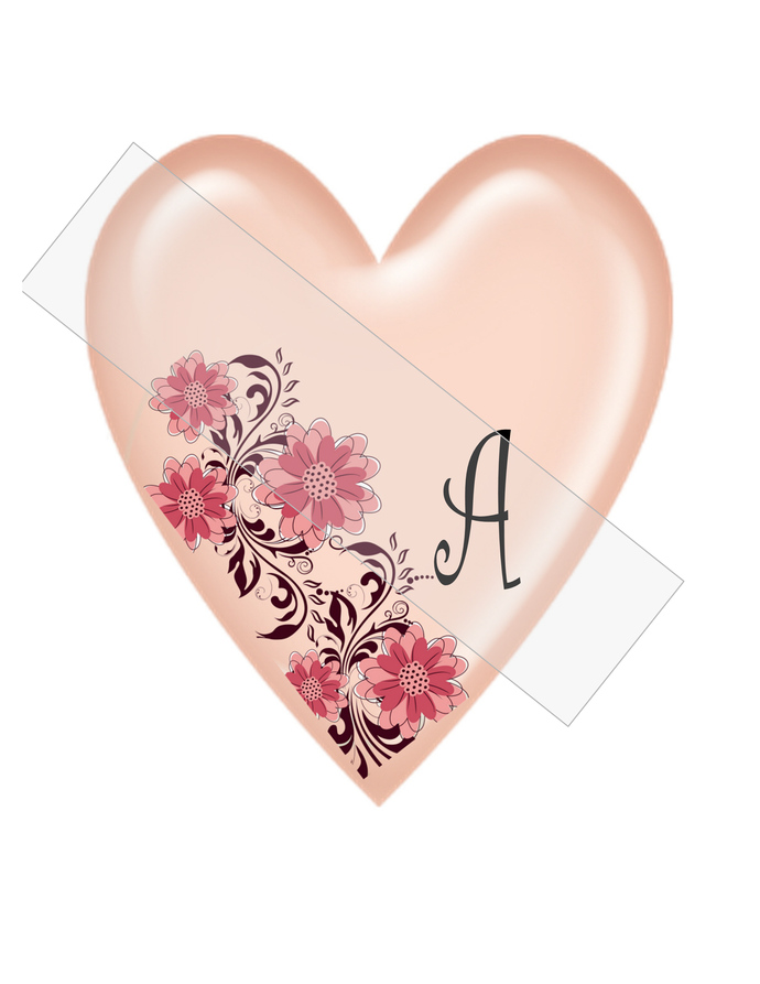 ABC Heart Flower350c-Jewelry Tag-Clipart-Gift Tag-Holiday-Digital