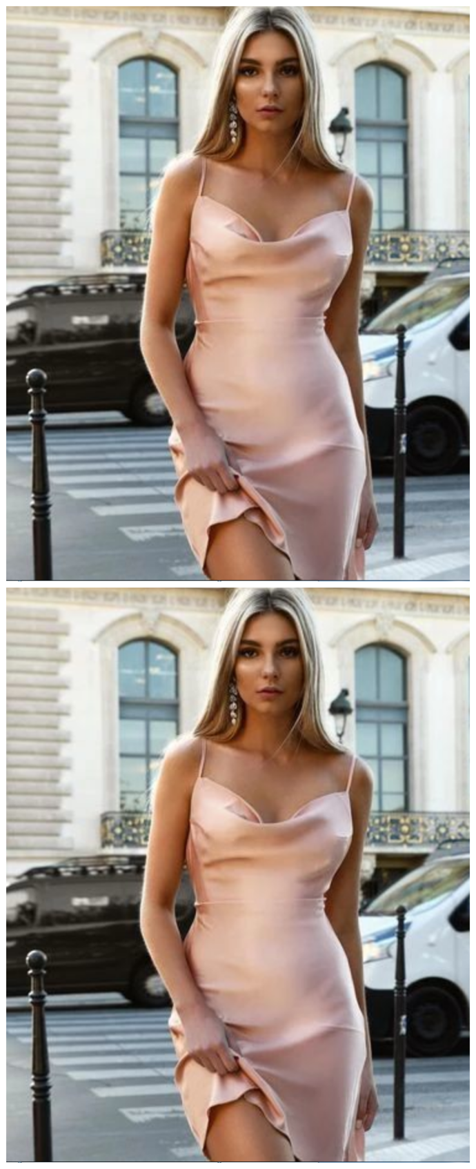 Sexy Straps Pink Cocktail Dress , Mini Homecoming Dress