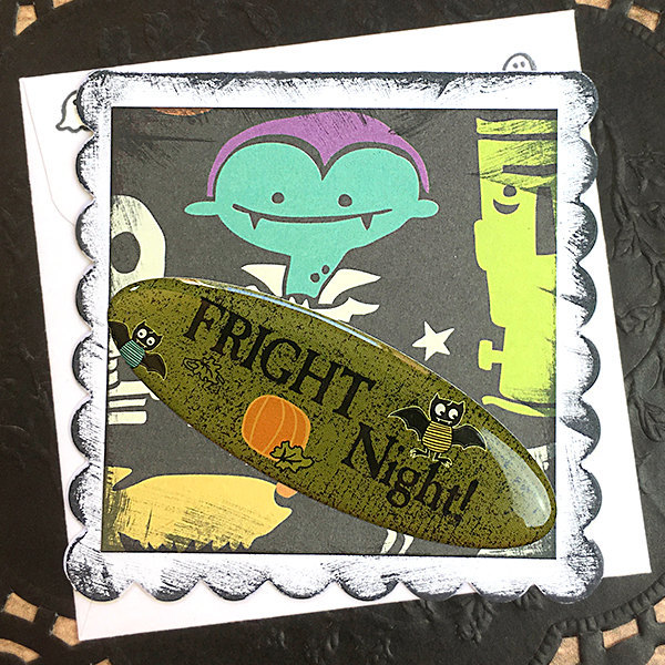 Fright Night Mini-Card, Gift Tag, Halloween, Vampire, Trick or Treat, Ghost,