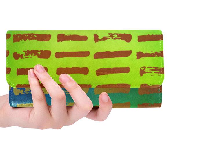 """Women's Trifold Wallet """"Brown Stripes"""""""