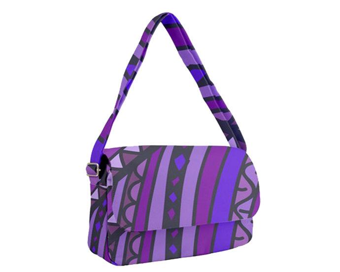"""Courier Bag A2 """"Purple Zen"""""""