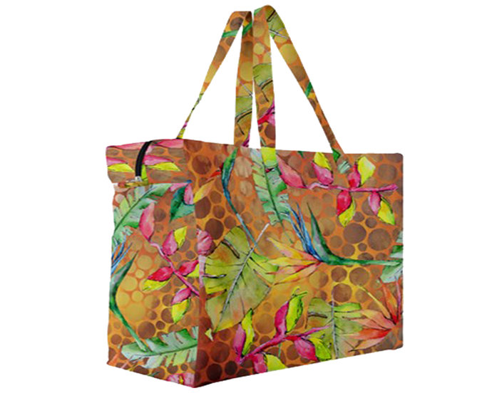 "Canvas Travel Bag A9 ""Tropical flowers"""
