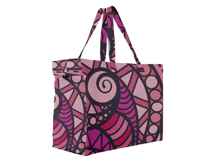 "Canvas Travel Bag A4 ""Magenta Zen"""
