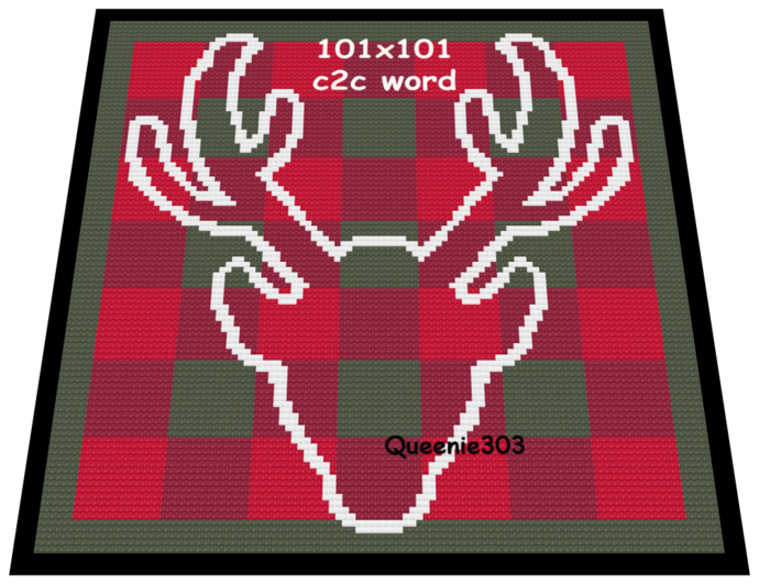 Plaid Buck 101x101 c2c (CORNER to CORNER)