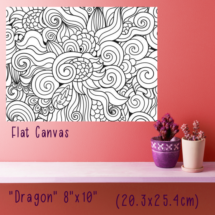 """""""Dragons"""" Paint your own canvas"""