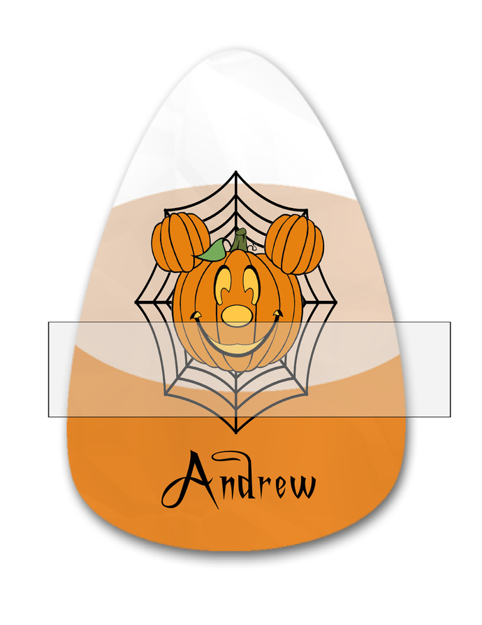 Candy Corn Name Andrew-Jewelry Tag-Clipart-Gift Tag-Holiday-Digital