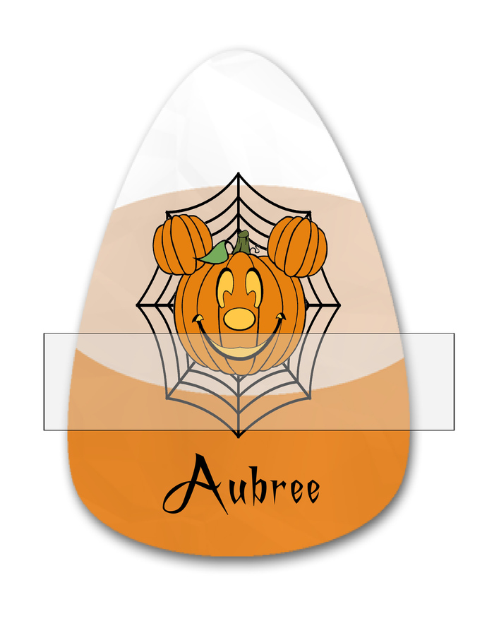 Candy Corn Name Aubree-Jewelry Tag-Clipart-Gift Tag-Holiday-Digital