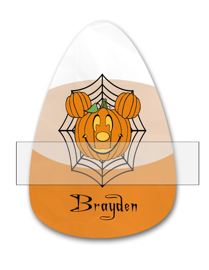 Candy Corn Name Brayden-Jewelry Tag-Clipart-Gift Tag-Holiday-Digital