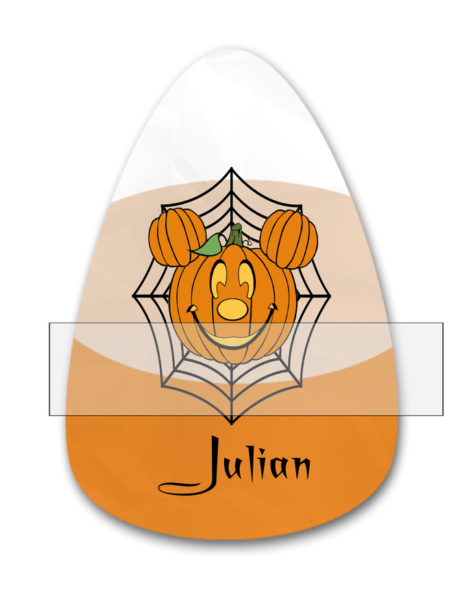 Candy Corn Name Julian-Jewelry Tag-Clipart-Gift Tag-Holiday-Digital