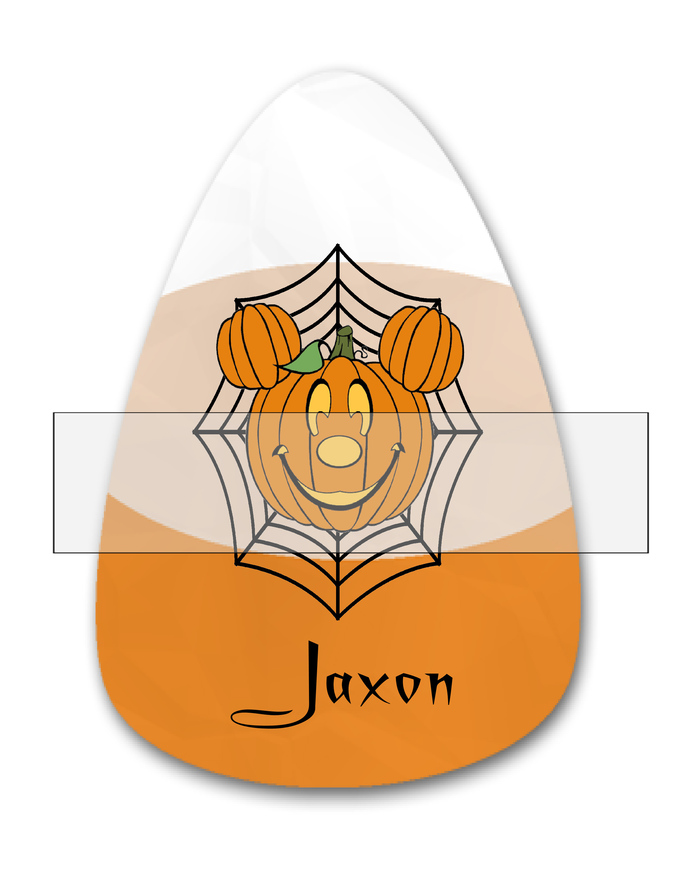 Candy Corn Name Jaxon-Jewelry Tag-Clipart-Gift Tag-Holiday-Digital