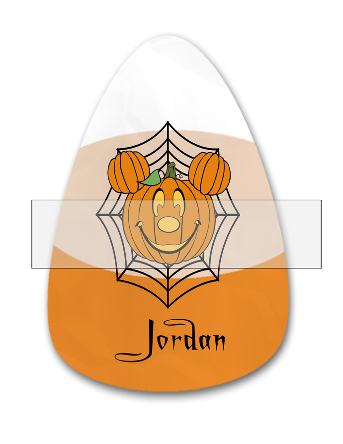 Candy Corn Name Jordan-Jewelry Tag-Clipart-Gift Tag-Holiday-Digital