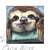 Baby Sloth Painting, 5x5 inches on panel, cute animal art