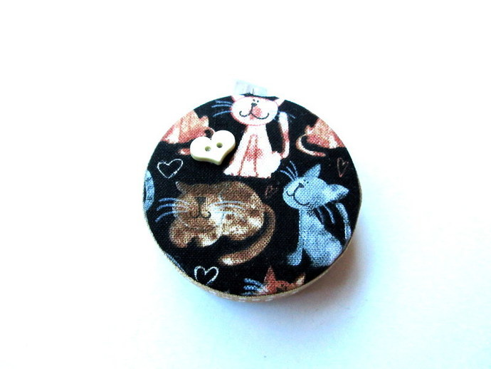 Tape Measure Mixed Cats and Hearts Small Retractable Measuring Tape