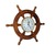"""18"""" Ships Time Nautical Handcrafted Wooden Ship Wheel Clock with Roman Numerals"""