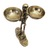 Antique Metal Skeleton Statue with two bowls - Halloween Decorations