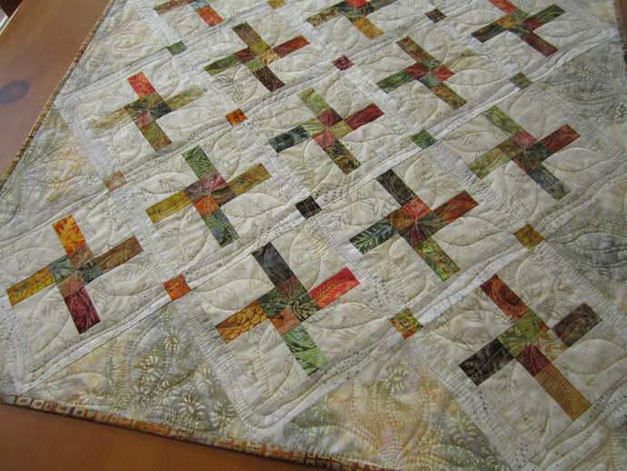 Table Topper Fall Quilt Square Handmade Autumn Decor