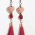 Red Hearts and Tassels Earrings Holiday Jewelry bronze hypoallergenic hook ear
