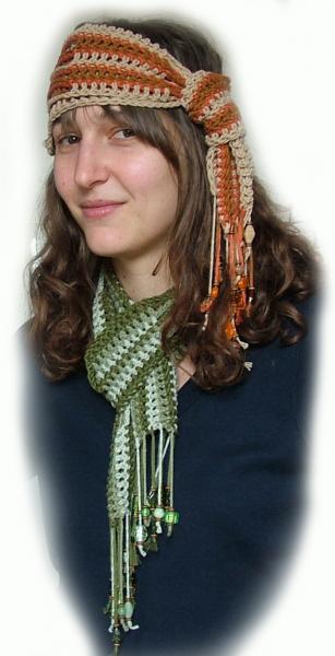 Crochet Scarf Pattern Crochet Headband Rensfibreart