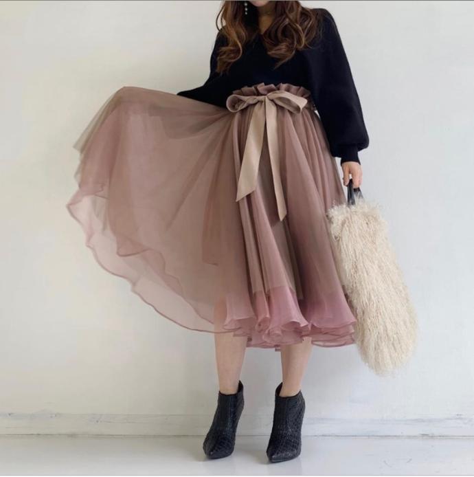S9972 New Arrival Skirt, Street Style Skirt,Organza Skirt,Custom Women