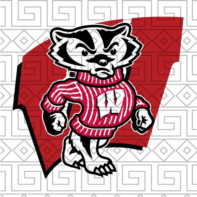 Wisconsin Badgers Svg,football svg,football gift, Wisconsin Badgers, football,