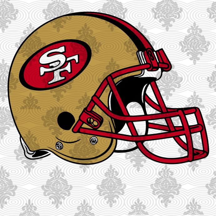 49ers helmets,NFL svg, Football svg file, Football logo,NFL fabric, NFL