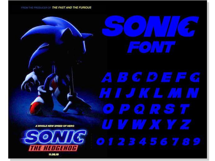 Sonic Font Otf Sonic Font Svg Sonic Svg Sonic By Hotfont On Zibbet