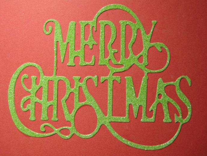 Fancy Merry Christmas w/ Reindeer Metal Cutting Die