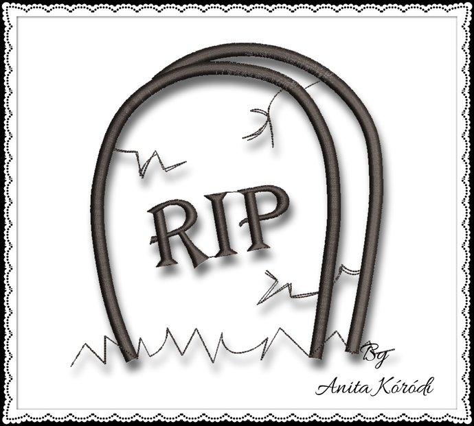 RIP Embroidery Machine Designdeath digital instant download Halloween pattern