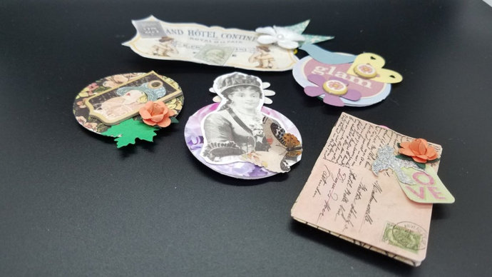 Junk Journal Ephemera Crafts and Supplies, tags