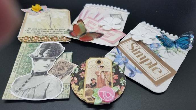Junk Journal Ephemera Crafts and Supplies, tags
