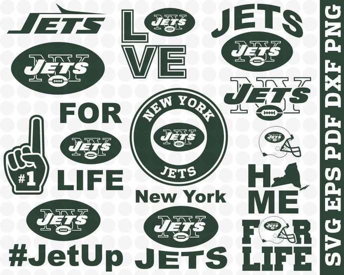 New York Jets Svg cut files instant download, Png Pdf Jpeg file format