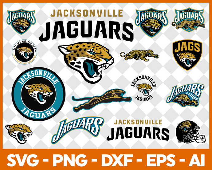 Jacksonville SVG and Studio 3 Cut File Decal Files Logo for Silhouette Cricut