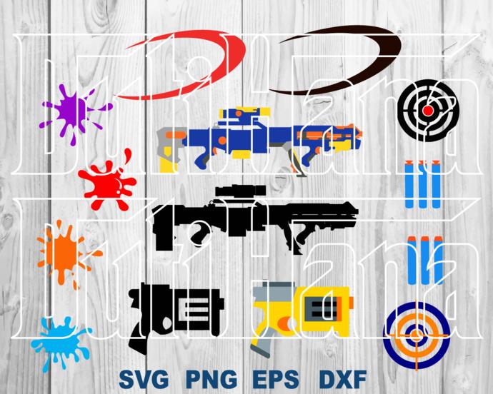 Nerf SVG Nerf Gun Mod stryfe Rival Kronos Shirt paint gun clipart decor Birthday