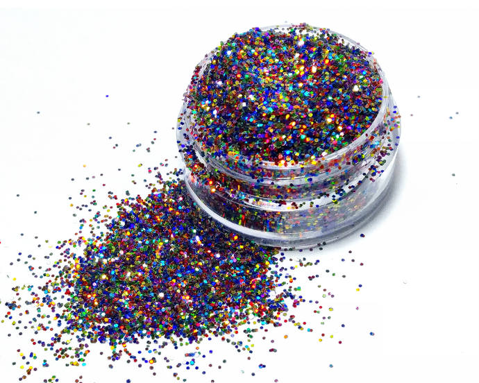 The 7 Chakras - Holographic Loose Cosmetic & Craft Glitter Mix