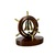 Nautical Ship Wheel Tabletop brass bell on Wooden Base