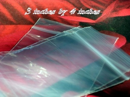 3x4 - 600 CLEAR RECLOSEABLE POLY BAGS