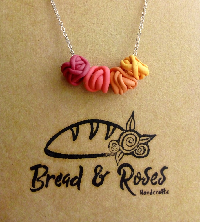 Rosy Squiggle Bead Chain