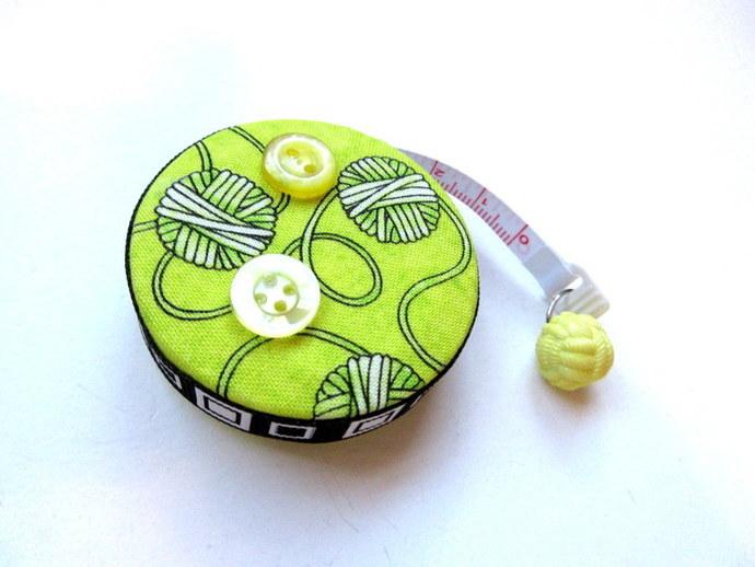 Retractable Tape Measure Yellow Yarn Balls Small Measuring Tape
