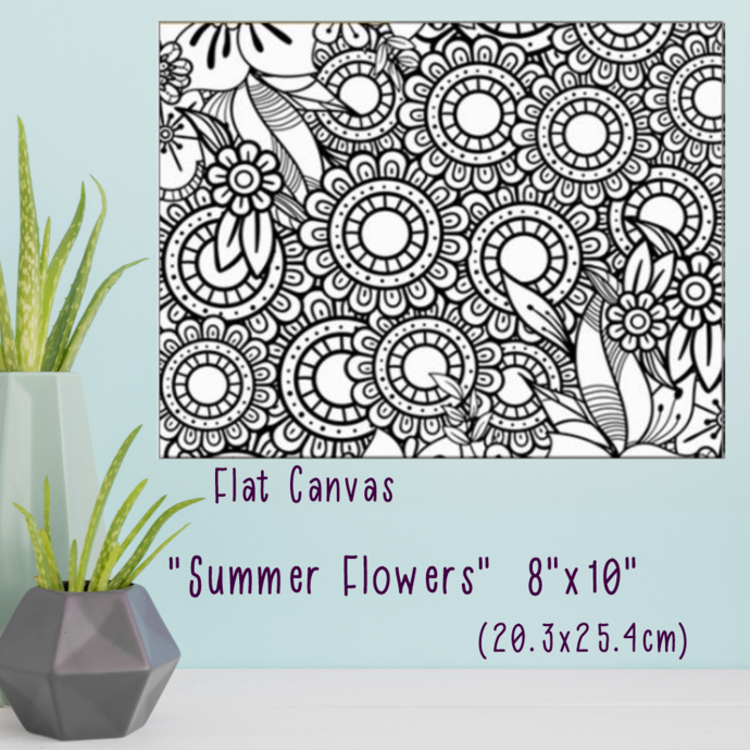 """Summer Flowers"" Paint Your Own Canvas"