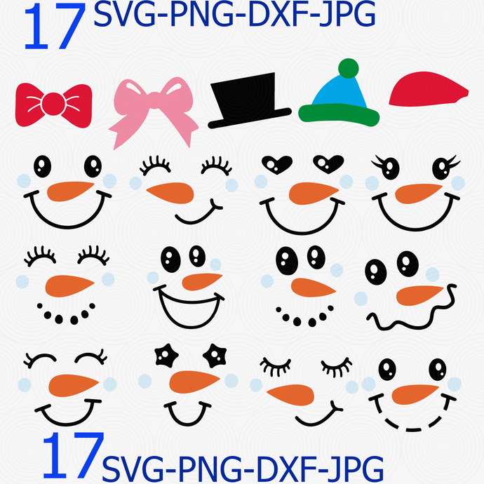 It is a graphic of Lively Printable Snowman Face