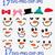 Snowman Faces Svg, Christmas Snowman svg, Christmas Clip Art, Snowboy SVG,