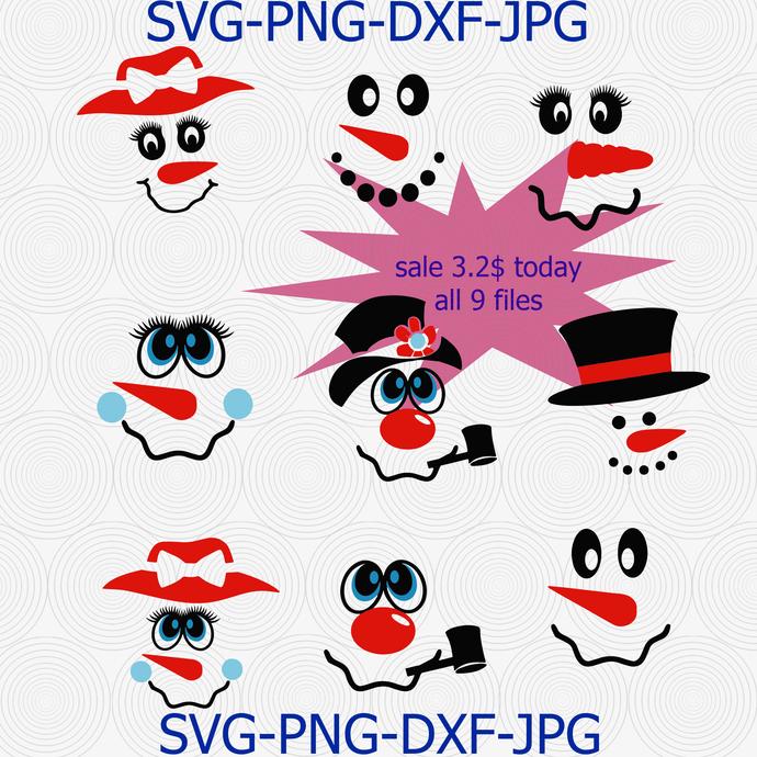 Snowman Svg, Snowman T Shirt Svg, Christmas Svg, Snowman Clip Art, SVG, DXF,