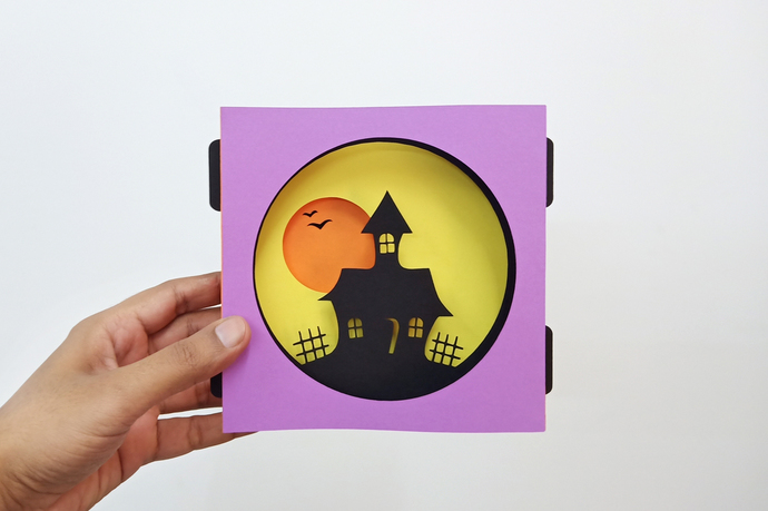 DIY Halloween decorations,Haunted house,Halloween gifts,3d tunnel card,DIY