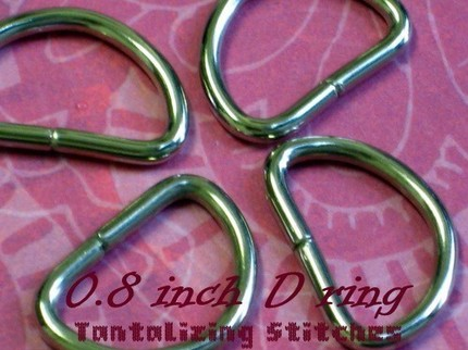 600 Unwelded D Rings - 20 mm for bags